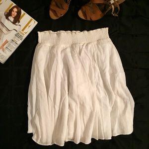 Banana Republic A-line Skirt Full Medium Offwhite